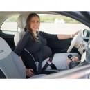 Deviator centura de siguranta auto pentru gravide cu sistem de ancorare dublu