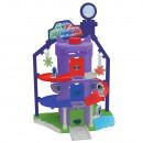 Pista de masini Dickie Toys Eroi in Pijama Team Headquarter cu 1 masinuta si 1 figurina