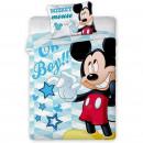Set lenjerie pat copii Mickey Oh Boy 100x135 + 40x60 SunCity FRA541850