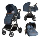 Carucior transformabil 3in1 Coccolle Acero Jeans