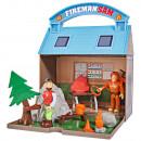 Jucarie Simba Statie montana Mountain Activity Centre Fireman Sam Bergstation cu 2 figurine si accesorii