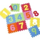Covor puzzle din spuma Numbers 10 piese