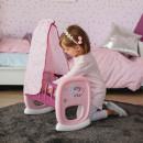 Leagan pentru papusa Smoby Baby Nurse roz mov cu baldachin