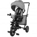 Lionelo - Tricicleta Tris Stone Grey Mecanism de pedalare libera, Suport picioare, Control al directiei, Scaun reversibil, Rotire 360 grade, Pliabila, Gri