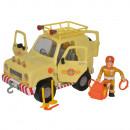 Masina Simba Fireman Sam Mountain 4x4 cu figurina si accesorii