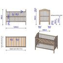 Patut copii din lemn Hubners Lizett 120x60 cm venghe