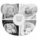 Perna bebelusi contra plagiocefaliei din spuma Memory Osito Olmitos Alb