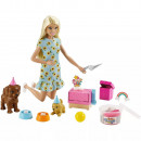 Set Barbie by Mattel Puppy Party cu papusa si accesorii