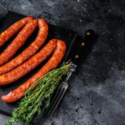 Carnati de porc afumati, usor picanti * Artisan Gourmet * Produs Natural 100%