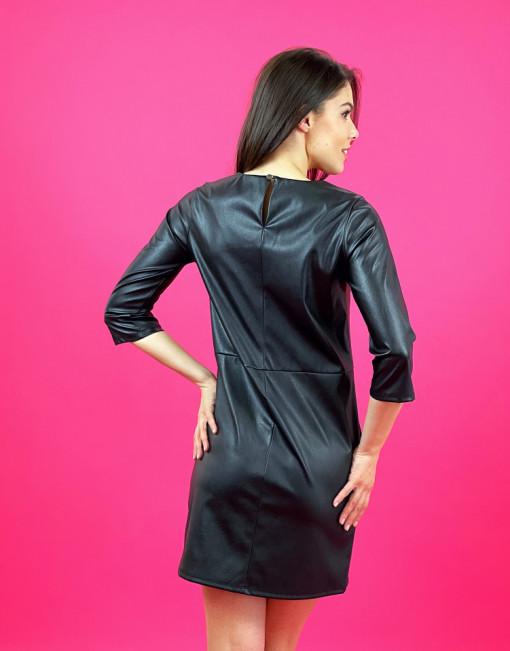 Rochie Black Leather