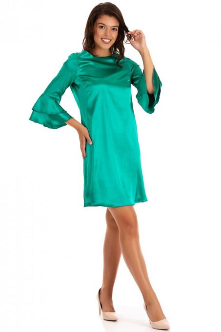 Rochie Green Satin