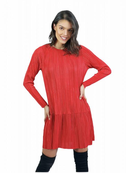 Rochie Plisse Red