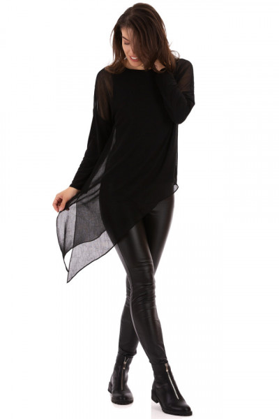 Bluza Asymmetric Black