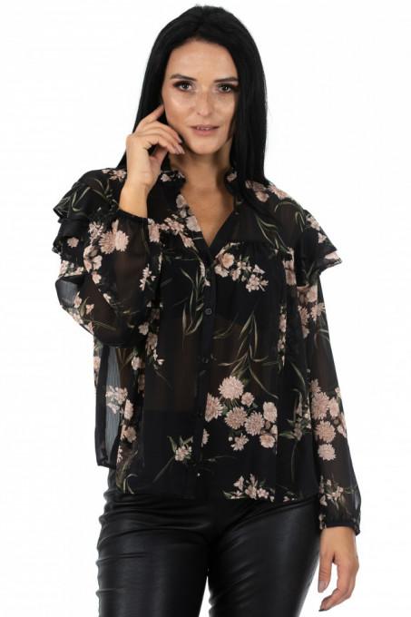 Bluza Madame Baronesse Beige Flowers