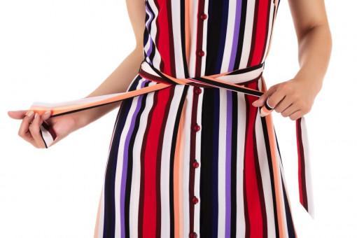 Rochie Shirt Pink Stripes