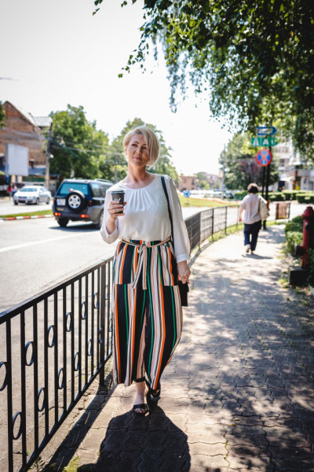 Pantalon Orange Stripes