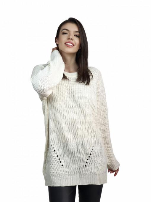 Pulover Zip White