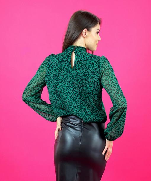 Bluza Green Animal Print