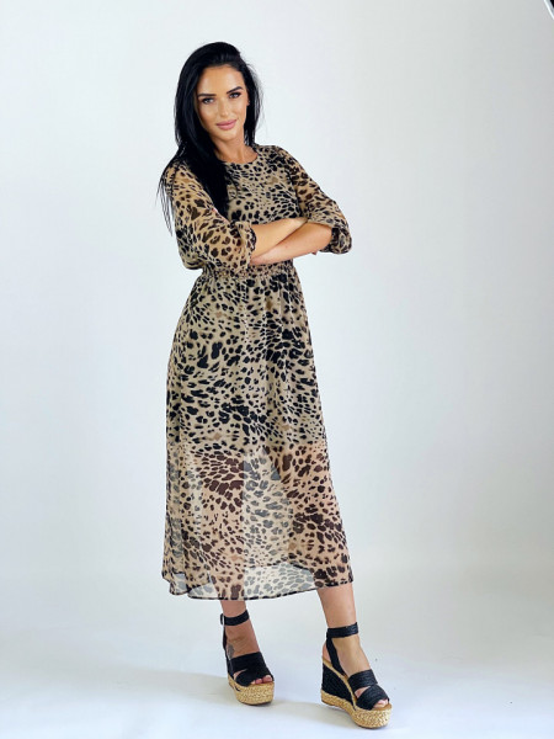 Rochie Shirring Animal Print