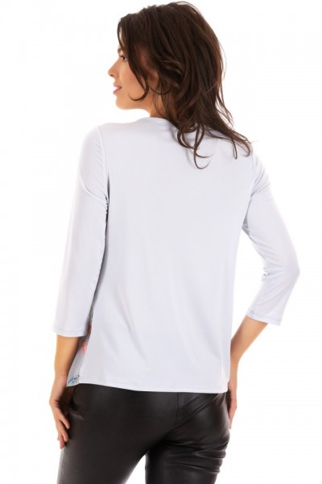 Bluza din chiffon cu maieu atasat