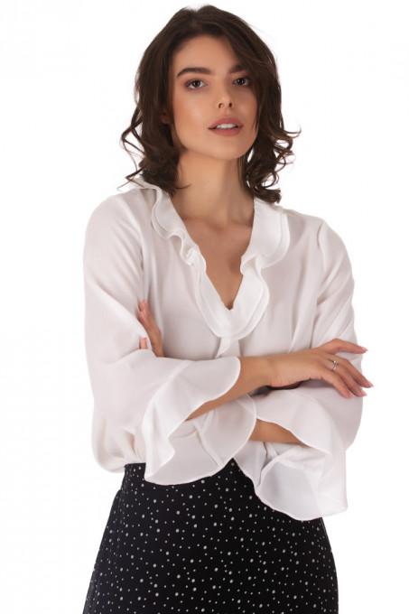 Bluza Frills White