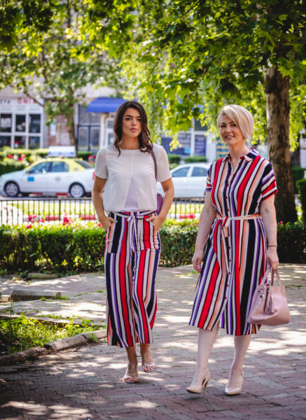 Pantaloni Pink Stripes