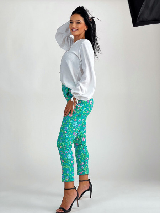 Pantalon Green Flowers