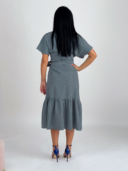 Rochie Wrap Forest Check