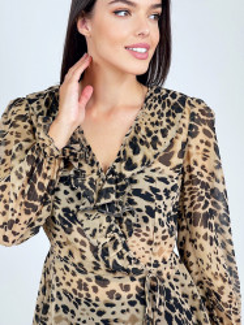 Bluza Frills Leopard