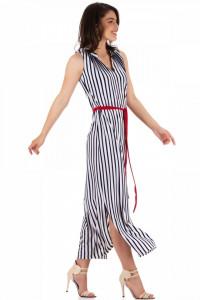 Rochie lunga cu cordon in talie