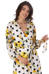 Rochie Yellow Flowers & Dots