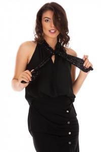 Bluza Black Sequins