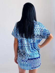 Camasa Relaxed Blue Print