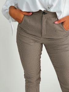 Pantalon Check Beige