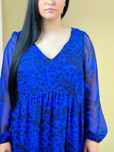 Rochie Electric Blue Leopard+