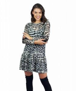 Rochie Grey Leopard