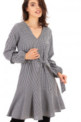 Rochie Mini Check Black White