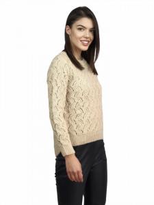 Pulover Beige Crochet