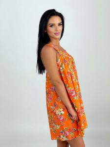 Rochie Baby Doll Floral Orange