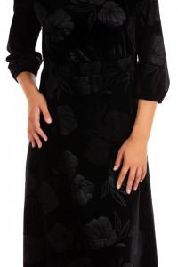 Rochie Black Velour & Pearls