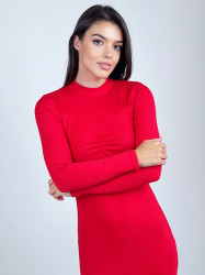 Rochie Long Red