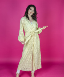Rochie Robe Yellow Lace