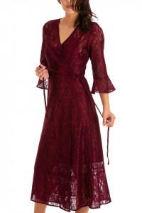 Rochie Diva Lace Wine