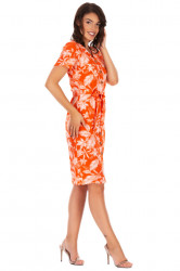 Rochie Orange Leaves
