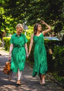 Rochie Shirt Green Dots