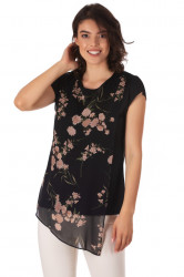 Bluza Assymetric Black Cream