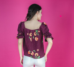 Bluza Burgundy Shirring