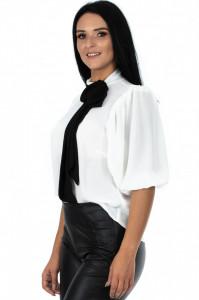 Bluza Tie Neck White