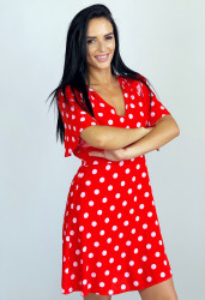 Rochie Polka Red