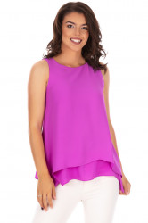 Top Assymetric Violette